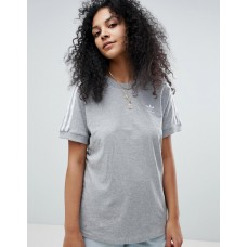 Adidas Originals adicolor three stripe t-shirt in gray Short sleeves Branded design That 3-Stripe life 1164720 KXBDLFO