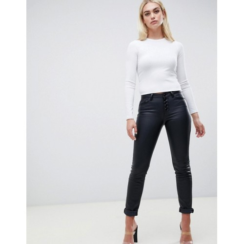 Fashion DESIGN slim t-shirt with long sleeve in white Round neck Long sleeves Cropped length 1370690 RXWZENW