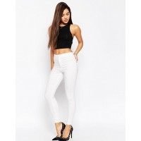 Fashion DESIGN Rivington high waist denim jeggings in white High performing stretch denim Super high rise Super skinny fit down to the leg opening 768122 XYCQVBD