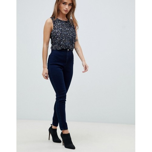 Missguided Petite vice high waisted super stretch skinny jean Super high-rise waist Concealed fly Two back pockets 893131 QWQABBY