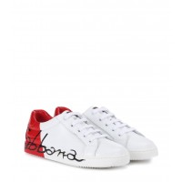 Dolce& Gabbana Kids Leather sneakers P00291012 XFYRSNO