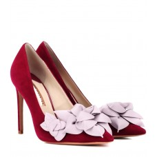 Sophia Webster Exclusive to Mytheresa – Jumbo Lilico suede and leather pumps P00340485 JMFZSTR