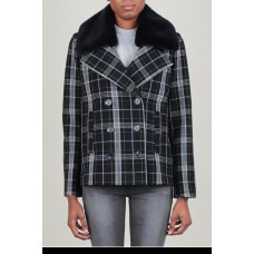 Current Air Double Button Coat 64% Poly 32% Viscose 4% Spandex QLODTMW