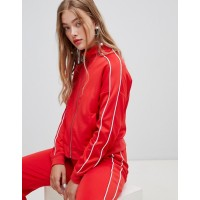 New Look Piped Ring Pull Sweat Top Two-Piece Funnel neck Zip fastening with ring pull Dropped shoulders 1352992 GWGWEJP
