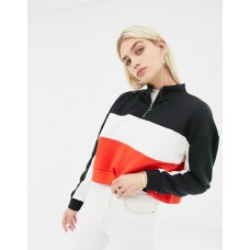 Noisy May color block sweat with zip We've got you covered High neck Long sleeves 1379921 OUJRESK