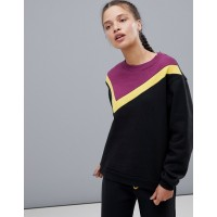 South Beach Color Block Sweatshirt Color-block design Crew neck Dropped shoulders 1273782 FHACWGK