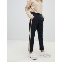 Fashion DESIGN tapered pants with camel contrast side panel High rise Contrast side stripe Tapered fit 1367270 IAISOGJ