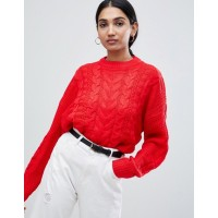 Warehouse cable sweater Dropped shoulders Ribbed cuffs and hem Regular fit 1364787 RBSEJZY