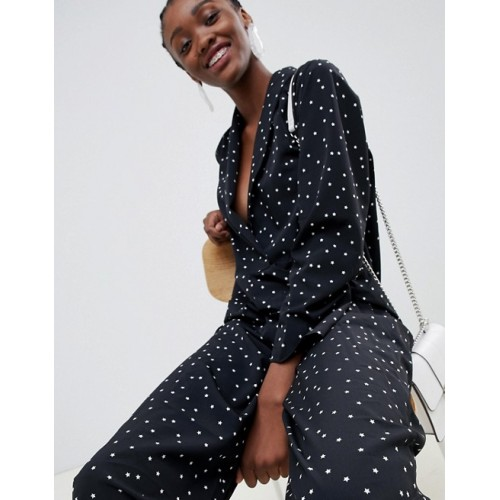 Fashion DESIGN minimal boiler jumpsuit with pockets in star print Minimal styling Star print Cute right? 1308325 RKHJEQY