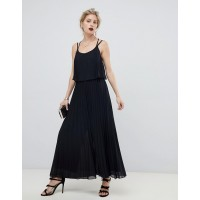 Fashion DESIGN pleated crop top jumpsuit Round neck Cross-strap back All-over pleat detail 1358361 VRVDIMX