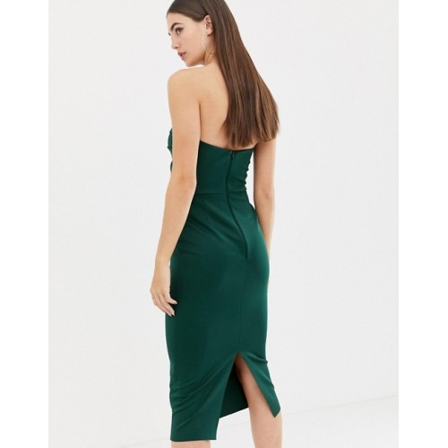 Fashion DESIGN Tall seamed bandeau midi bodycon dress Sweetheart neck Panelled bodice Kick split 1369846 VQZKGVJ